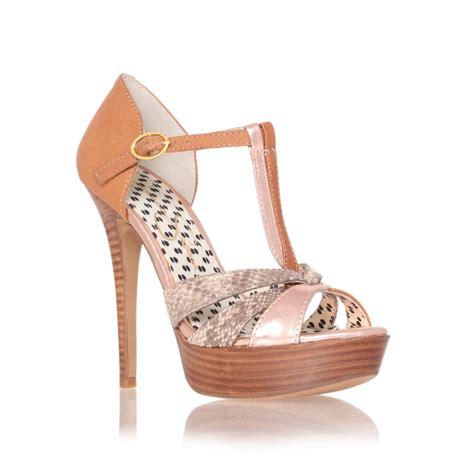 bentley platform shoes in beige lyst