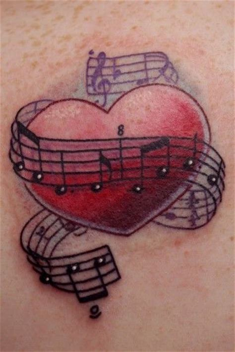 heart with music notes tattoo designs 25 best ideas about on