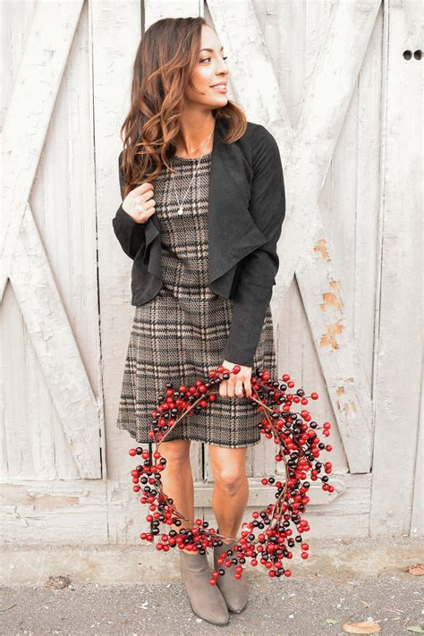 swinging oxford oxford plaid swing dress gg boutique