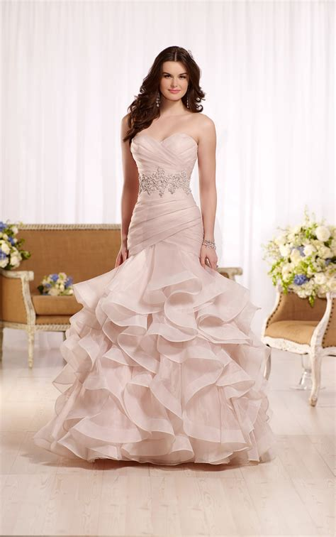 Wedding Ruffled ruffled wedding dress with ruched bodice essense of