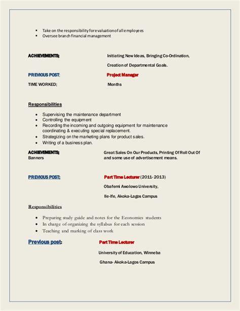 comprehensive curriculum vitae exle comprehensive cv