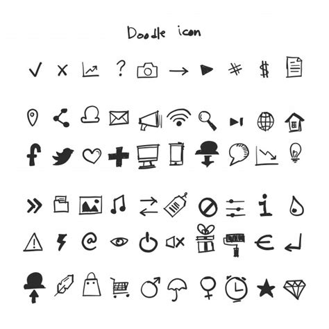 how to edit a doodle doodle icon vector free