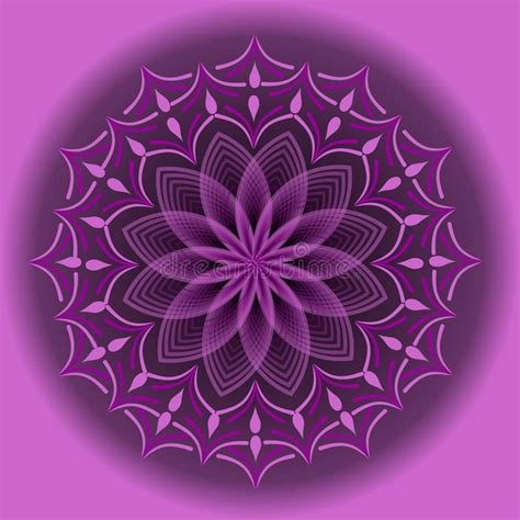 light purple mandala  optical art style  spiritual
