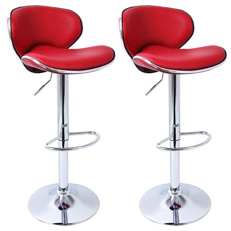 2 x bar stools faux leather breakfast kitchen swivel stool 2 x bar stools barstool kitchen breakfast adjustable faux