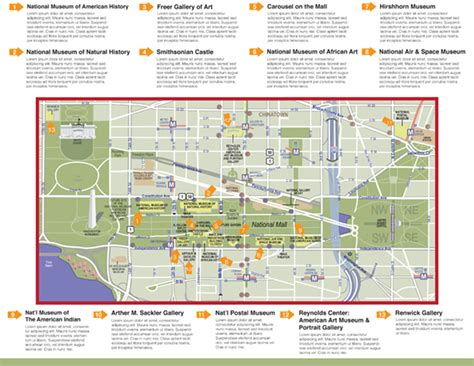 washington dc map museum smithsonian map on behance