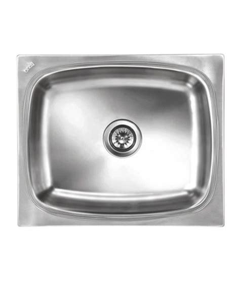 Nirali Kitchen Sinks Buy Nirali Kitchen Sink Single Bowl Grace Delux Medium Satin At Low Price In India Snapdeal