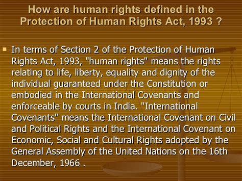 section 7 human rights act national human rights commission india