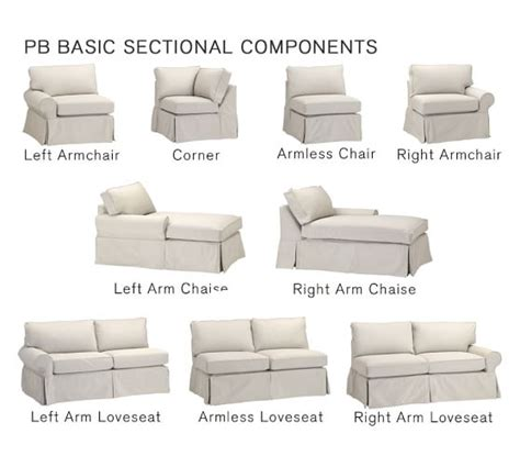 pb basic slipcovers pb basic sectional component slipcovers pottery barn