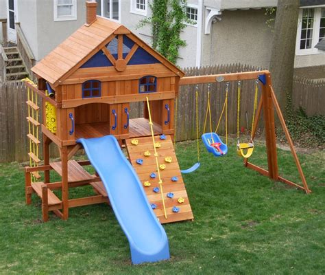 costco wooden swing sets swing set installation nj playset installer cedar summit