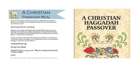 printable toddler haggadah 17 best images about christian seder meal on pinterest