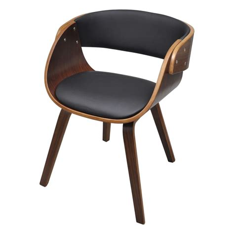 Vidaxl Co Uk Dining Chair With Padded Bentwood Seat Padded Dining Chair