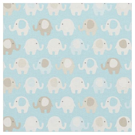 pattern fabric elephant baby blue elephant pattern fabric zazzle