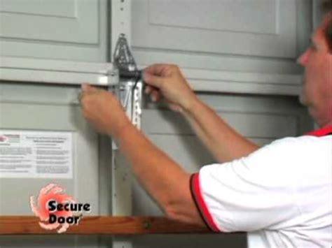 Garage Door Hurricane Protection by Installation Vertical Bracing System Garage Door