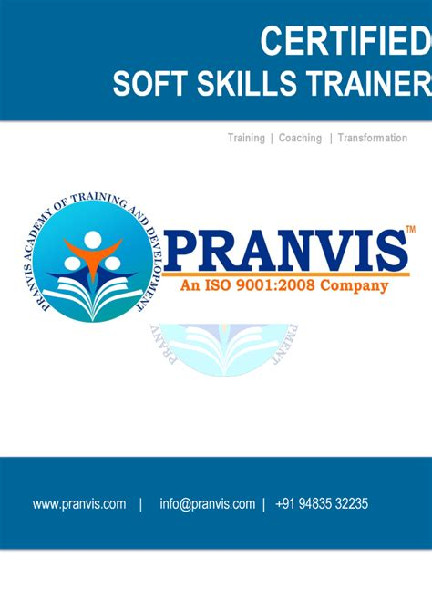 Soft Skill Trainer by Pranvis Certified Soft Skills Trainer Brochure Authorstream