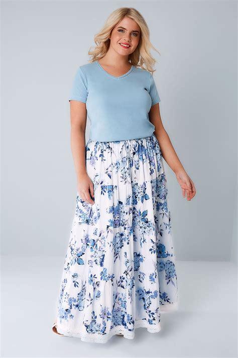 Murah Widea Washed Premium Skirt Rok Size Jumbo blau wei 223 blumen maxi rock in gro 223 en gr 246 223 en 44 64