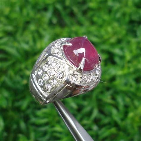 Batu Akik Batu Cincin Delima Emas batu cincin mustika merah delima semar mesem asli