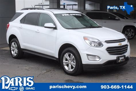 chevrolet equinox white used 2016 chevrolet equinox lt stock b2217 white fwd used suv