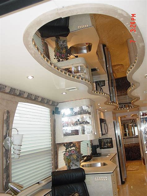 Types Of Ceiling Treatments by Rv Ceiling Treatments Interior Remodels At Premier Motorcoach Innovations Santa Ca 5 Rv