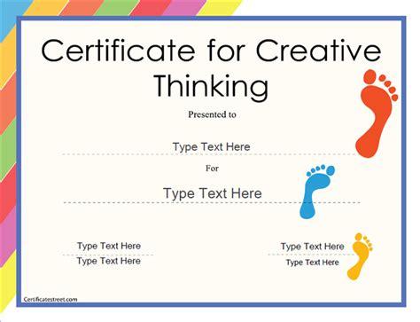 creative certificate templates education certificates award template for creative