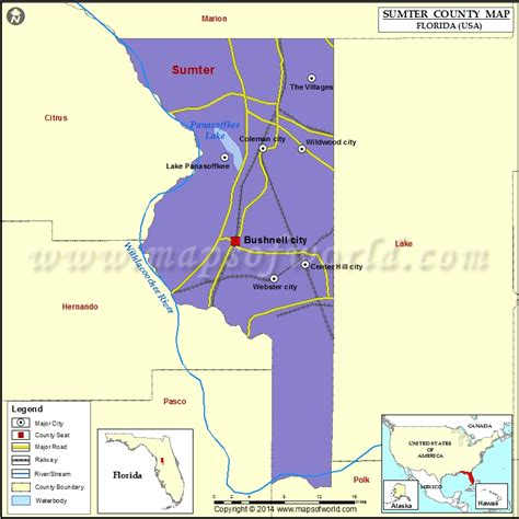 map of bushnell florida sumter county map florida