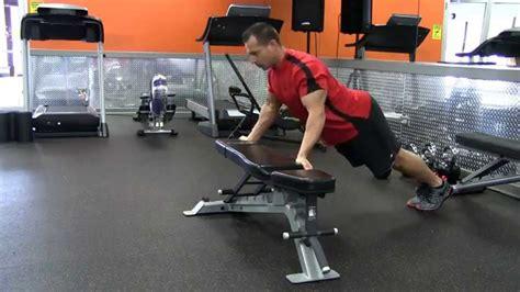 backwards push up bench incline reverse grip wide push up youtube