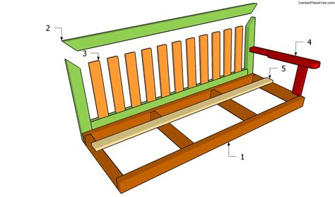 bench swing plans wooden garden swing bench plans diywoodplans
