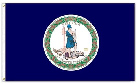 virginia state colors state of virginia flag the flag shop