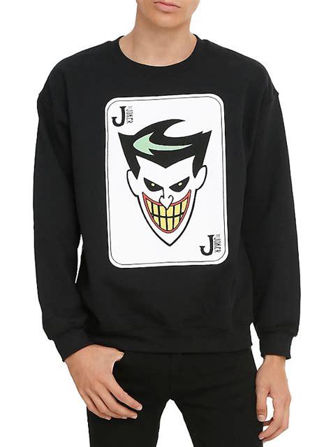 Jaket Sweater Hoodie Hoodie Batman 5 Home Clothing batman the animated series the joker crew pullover topic