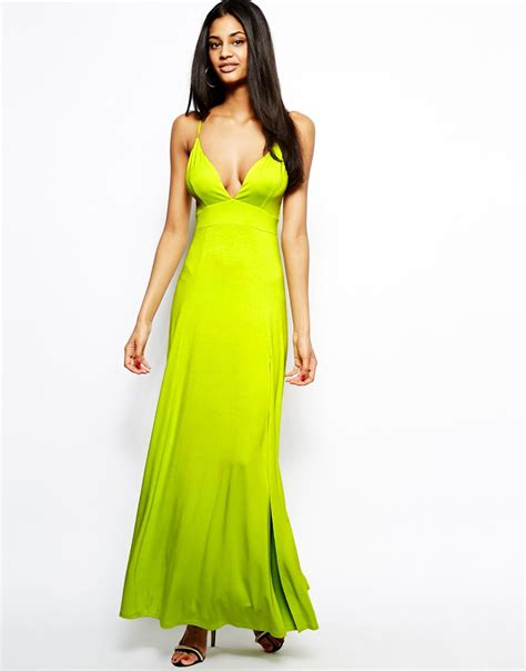 Dress Maxi Dress Wanita Maxi 1 lyst asos cami maxi dress in yellow