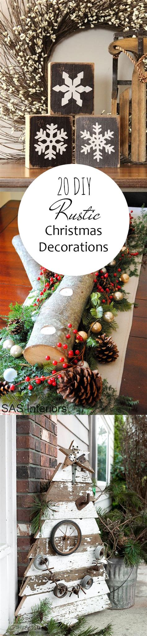 20 beautiful rustic ideas for christmas decorations 14