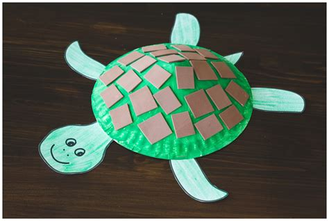 Paper Turtle Craft - paper plate turtle craft for free printable