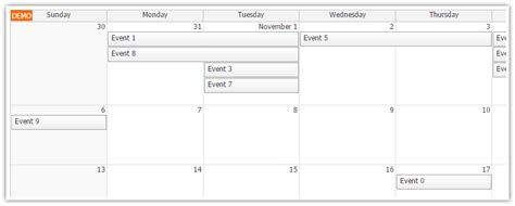 angular monthly event calendar daypilot