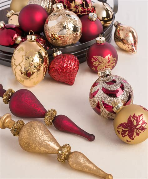 burgundy gold ornament collection tree classics