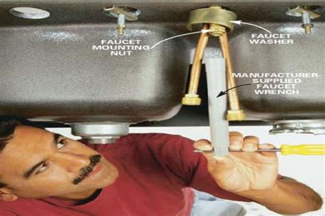 remove kitchen sink faucet how to remove install a