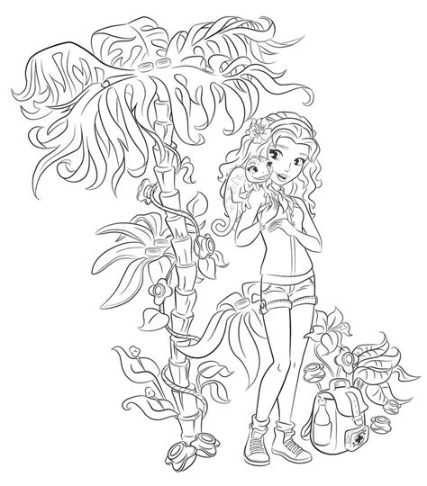 emma  lego friends colouring pages party time