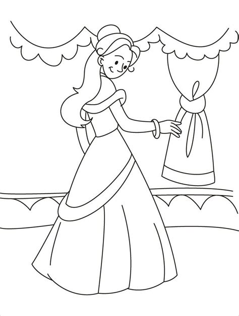 free coloring pages of medieval princess