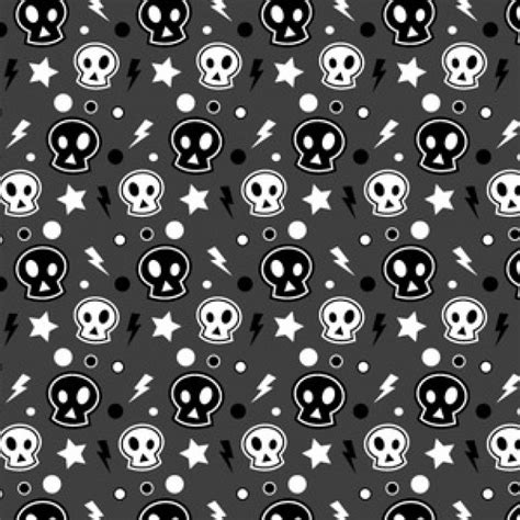 seamless pattern illustrator vector funky skull halloween seamless illustrator pattern vector