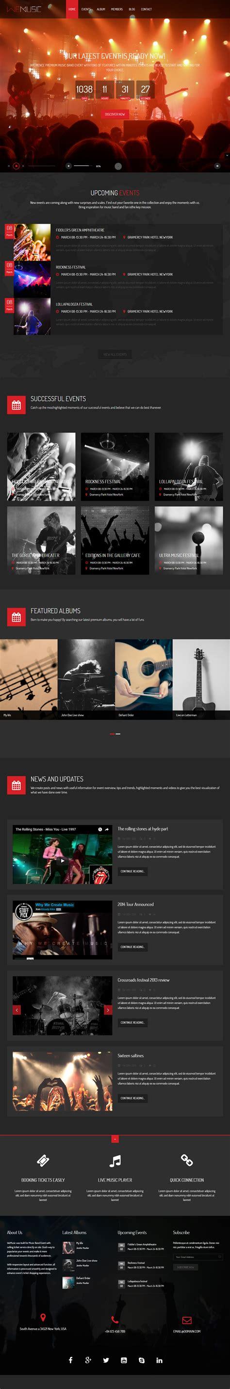 theme drupal music 5 best responsive drupal events theme 2017 responsive