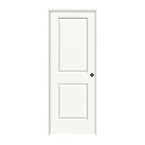 Jeld Wen 30 0 In X 80 In Smooth 2 Panel Solid Core | jeld wen 30 in x 80 in cambridge white painted left hand