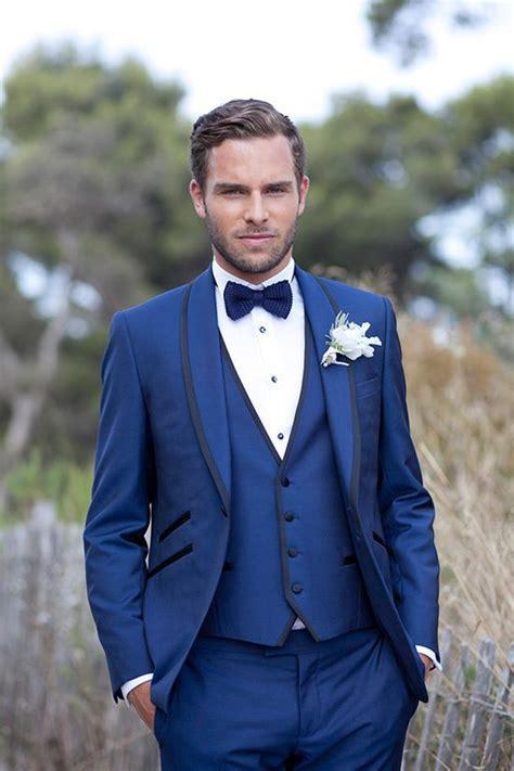 Jas Biru Pengantin Y290 pengantin pria jas biru selendang lapel groom tuxedo slim fit groom memakai custom made
