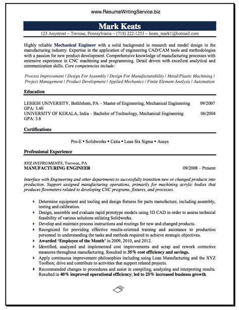 Resume Career Objective Mechanical Engineer see mechanical engineer resume sle here resume