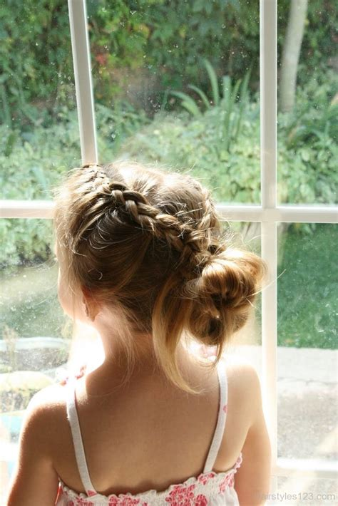 braid wrapped chignon updos cute girls hairstyles french braid hairstyles