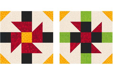 Patchwork Block Patterns - 10 inch patchwork quilt block patterns