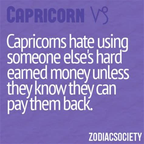 capricorns hate using someone else s hard earned money