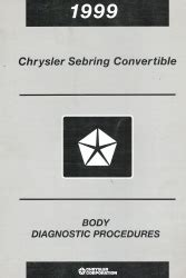 all car manuals free 1999 chrysler sebring regenerative braking 1999 chrysler sebring convertible body diagnostic procedures