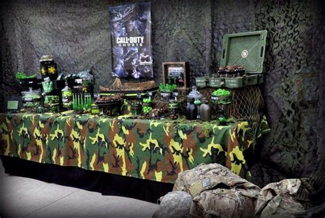 Camouflage Bedroom Ideas call of duty military birthday party ideas photo 4 of 11