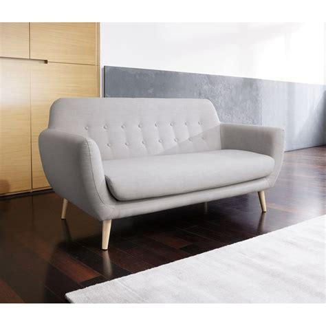 sofa maison du monde canap 233 2 places r 233 tro gris clair iceberg maisons du