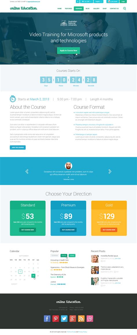 wordpress themes call center education center training courses wordpress theme by