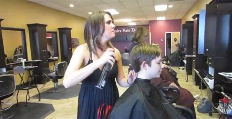 sissy forced haircut in salon forced haircut makeover hairstyle gallery