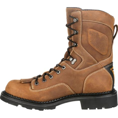 comfortable work boots georgia boot comfort core logger waterproof work boots